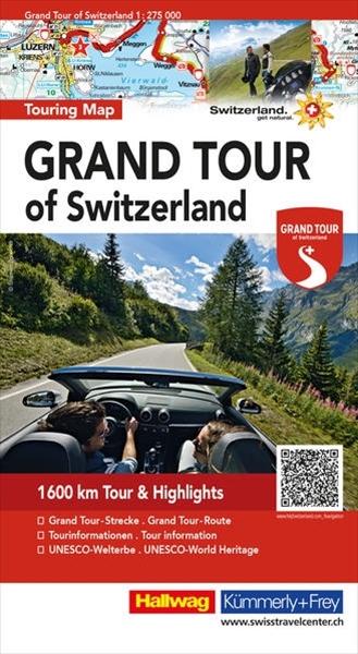Bild von Hallwag Kümmerly+Frey AG (Hrsg.): Grand Tour of Switzerland Touring Map Strassenkarte 1:275 000. 1:275'000